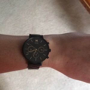 MVMT Accessories - MVMT watch Women's Black with Rose Gold Numbers